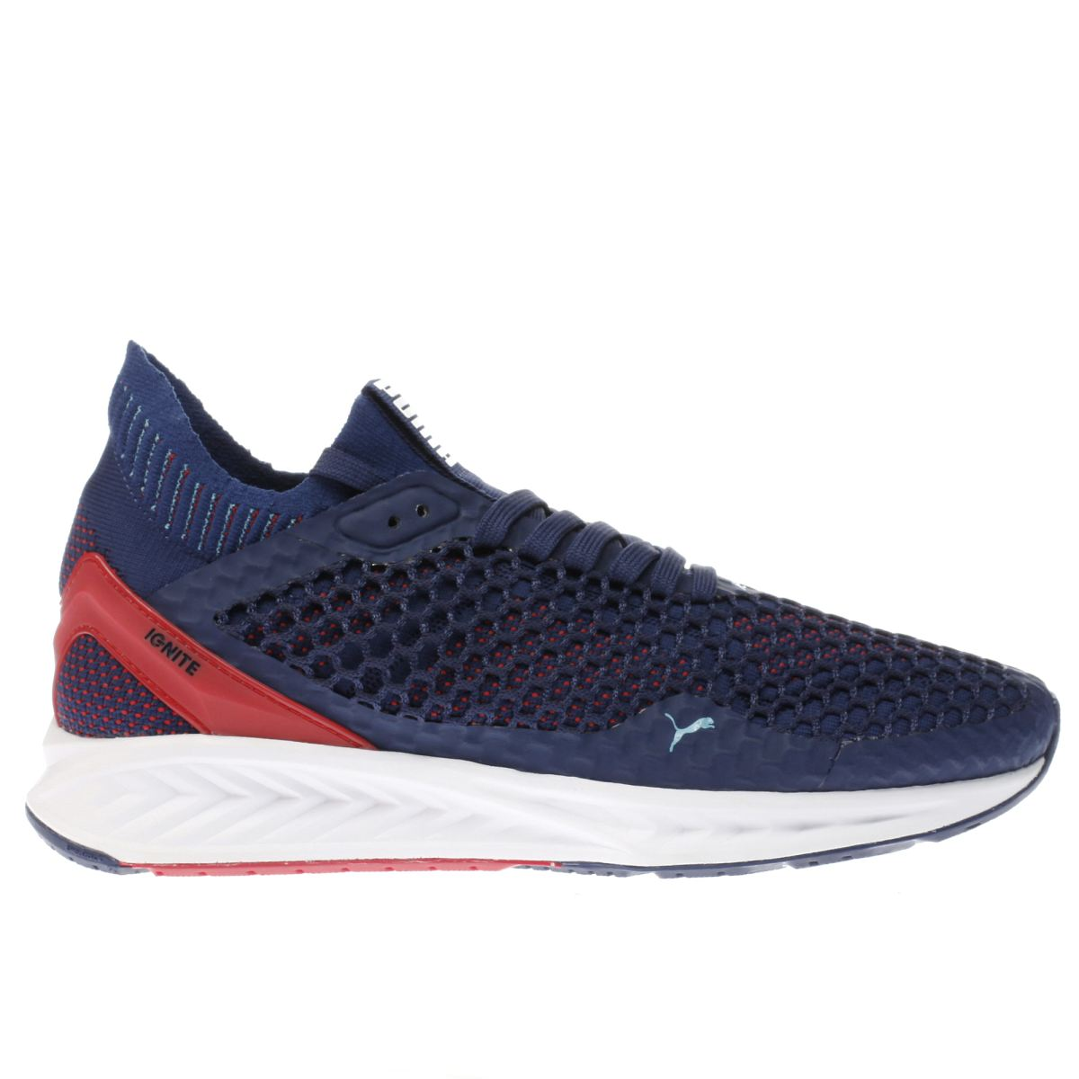 puma navy & red ignite netfit trainers