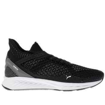 Puma Black Ignite Netfit Mens Trainers