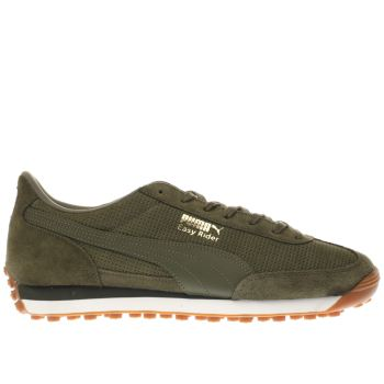 Puma Khaki Easy Rider Mens Trainers