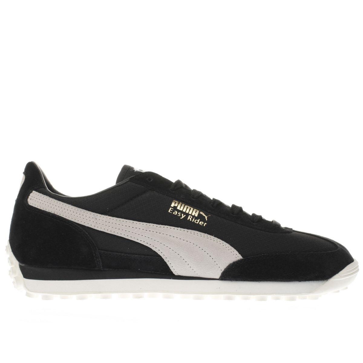 puma black & white easy rider trainers