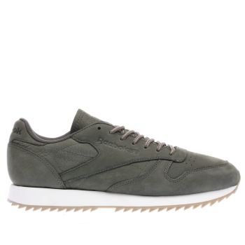 Reebok Khaki Classic Leather Ripple Wp Mens Trainers