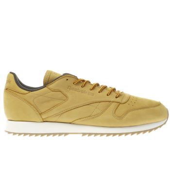 Reebok Tan Classic Leather Ripple Wp Mens Trainers