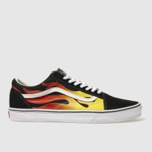 Vans Black & Red Old Skool Flame Mens Trainers