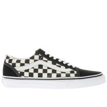 Vans Black & White Old Skool Checkerboard Mens Trainers