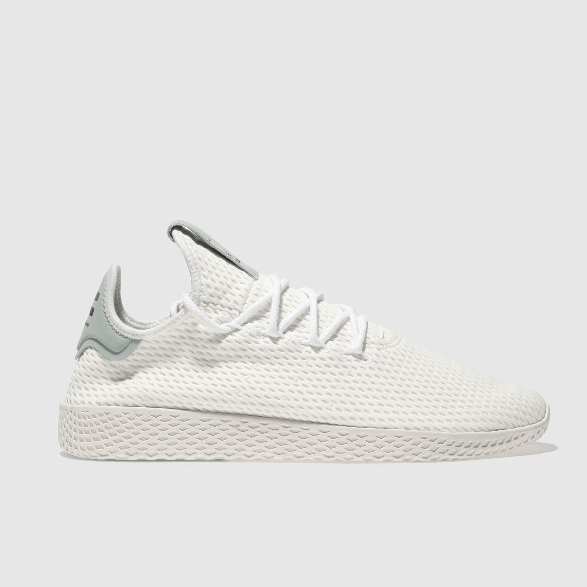 adidas white & green pharrell williams tennis hu trainers