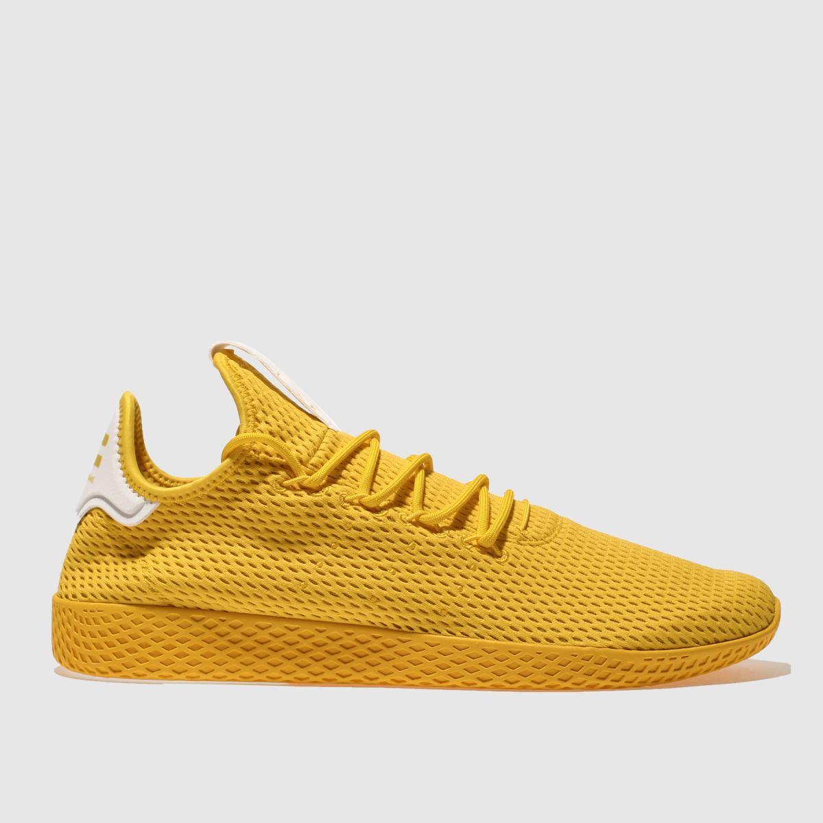 adidas yellow pharrell williams tennis hu trainers