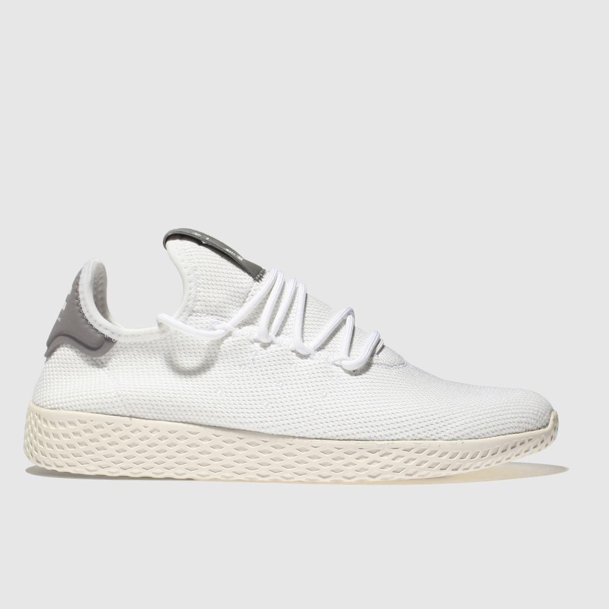 Adidas White & Grey Pharrell Williams Tennis Hu Trainers