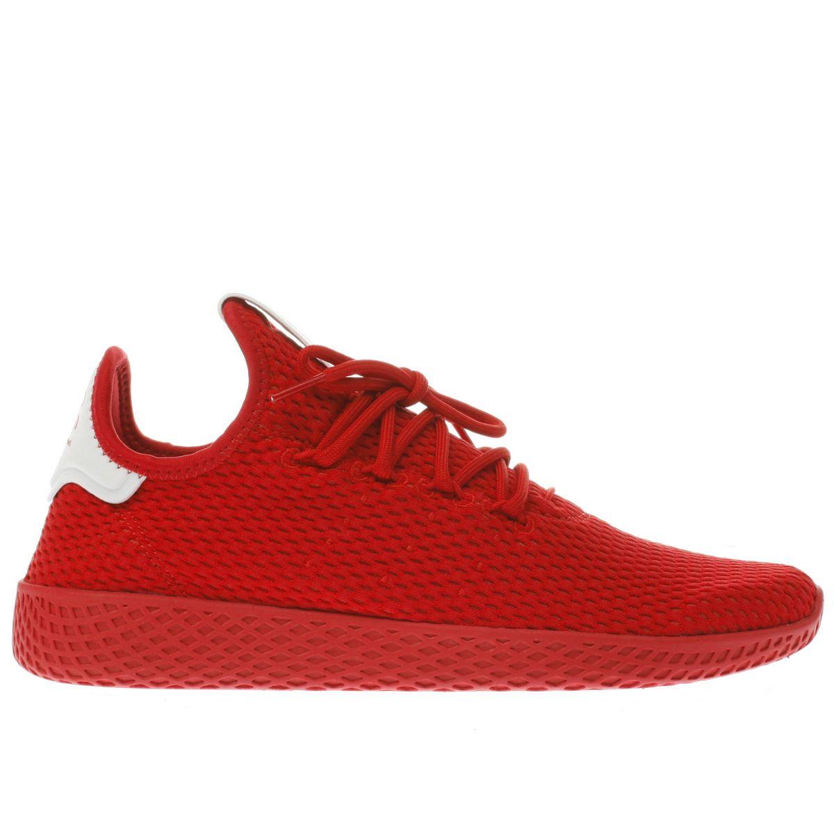 adidas red pharrell williams tennis hu trainers