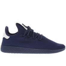 Adidas Navy Pharrell Williams Tennis Hu Mens Trainers