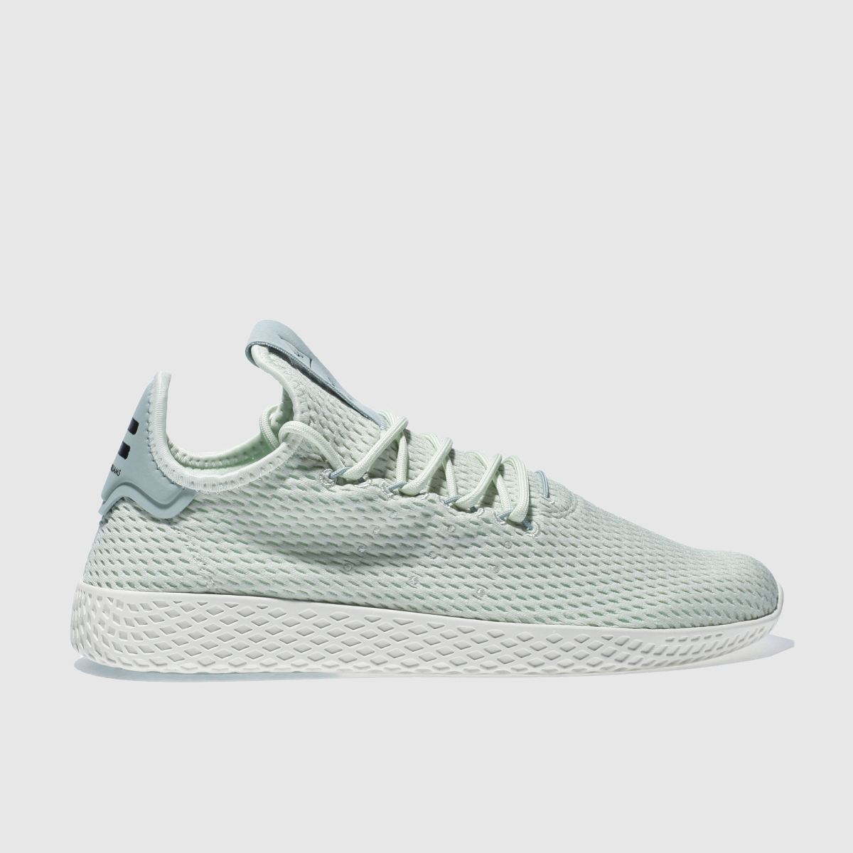adidas light green pharrell williams tennis hu trainers