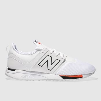 New Balance White 247 Mens Trainers
