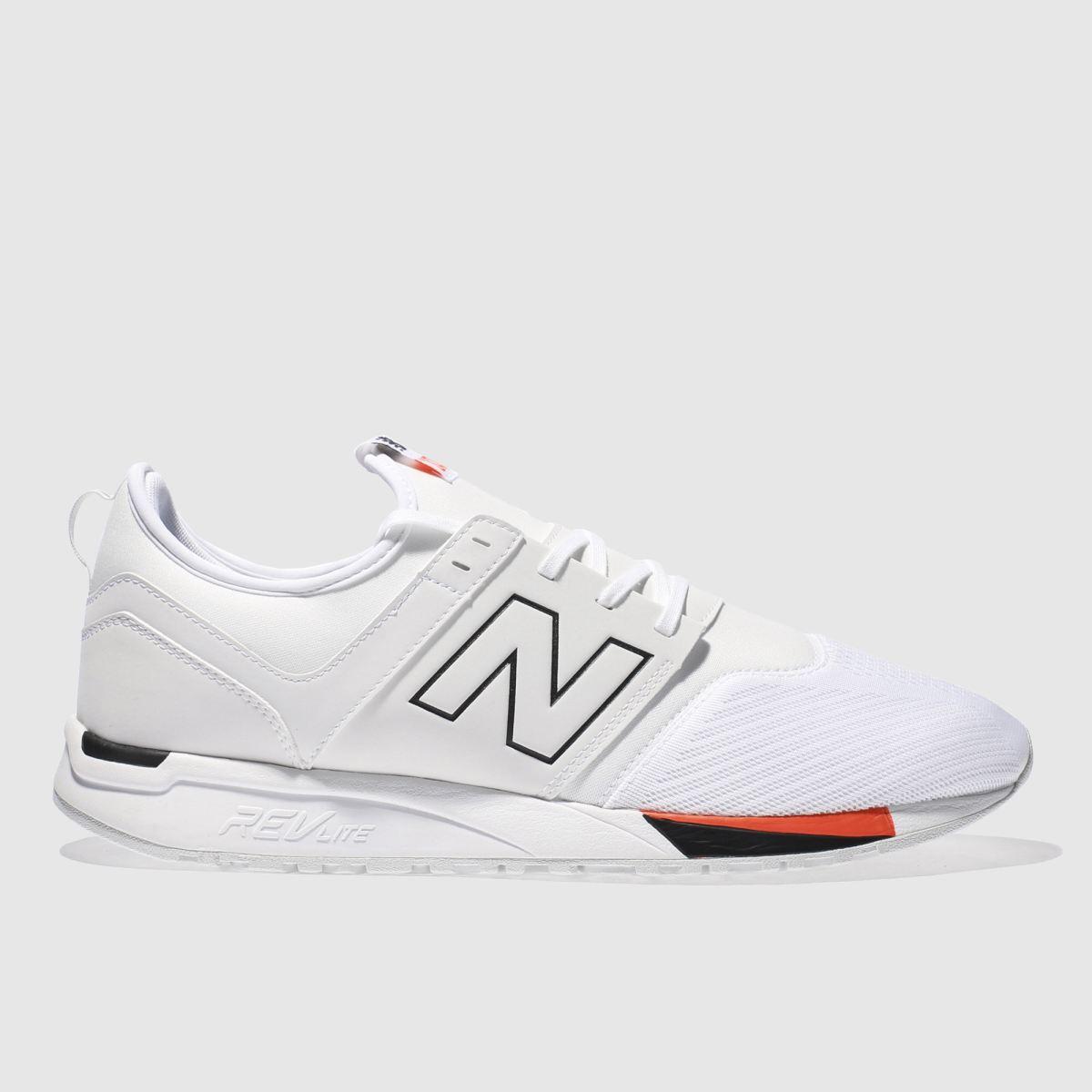 new balance white 247 trainers