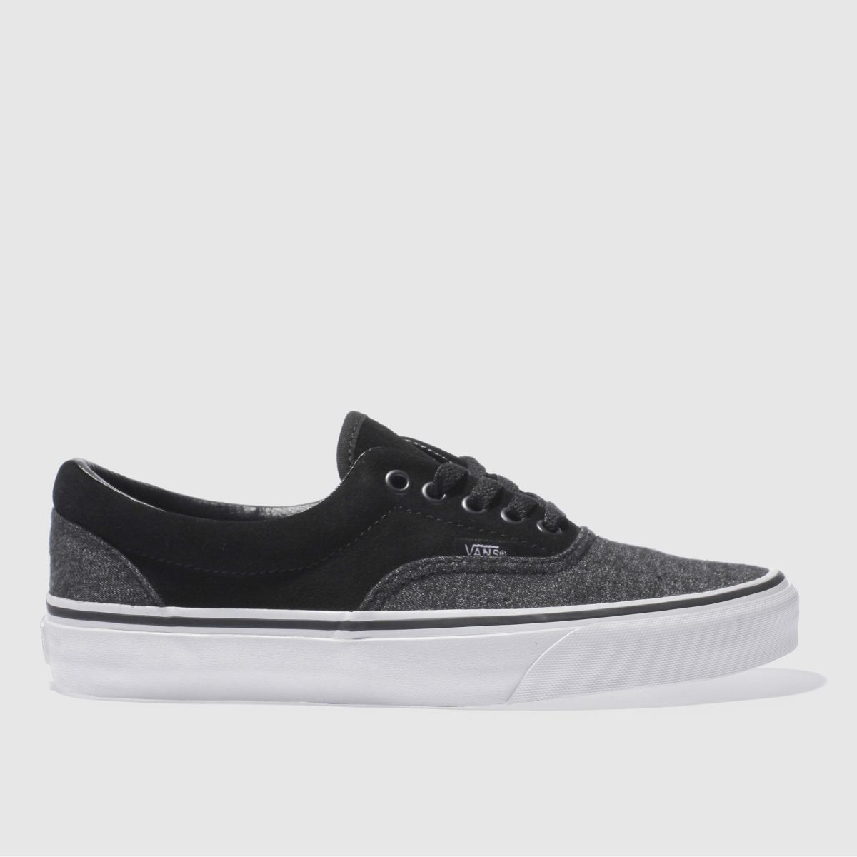vans black & grey era trainers