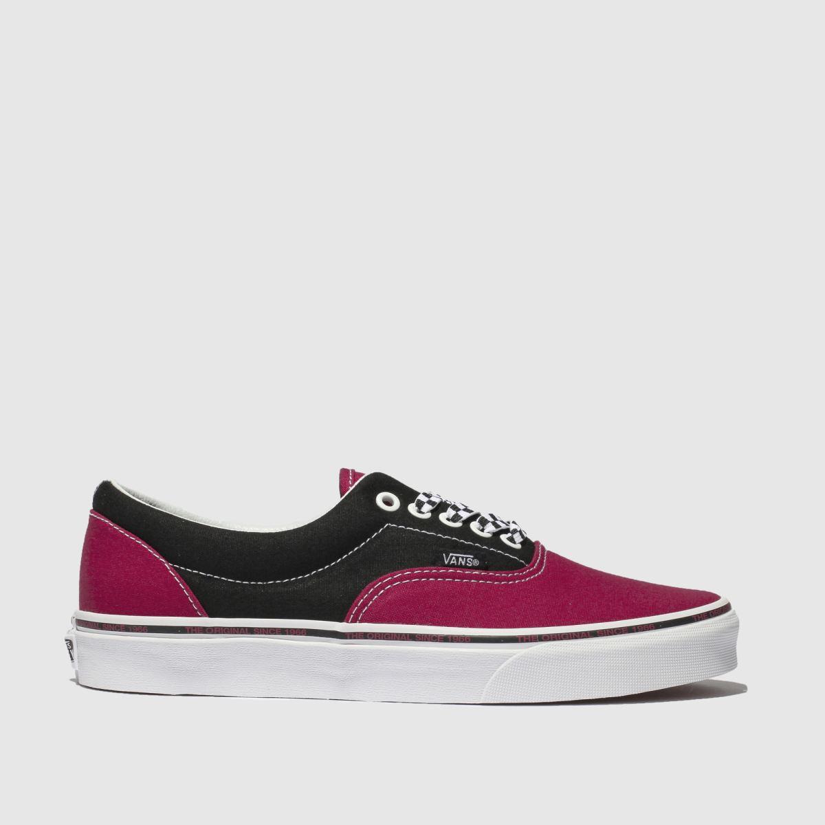 Vans Black & Pink Era Trainers