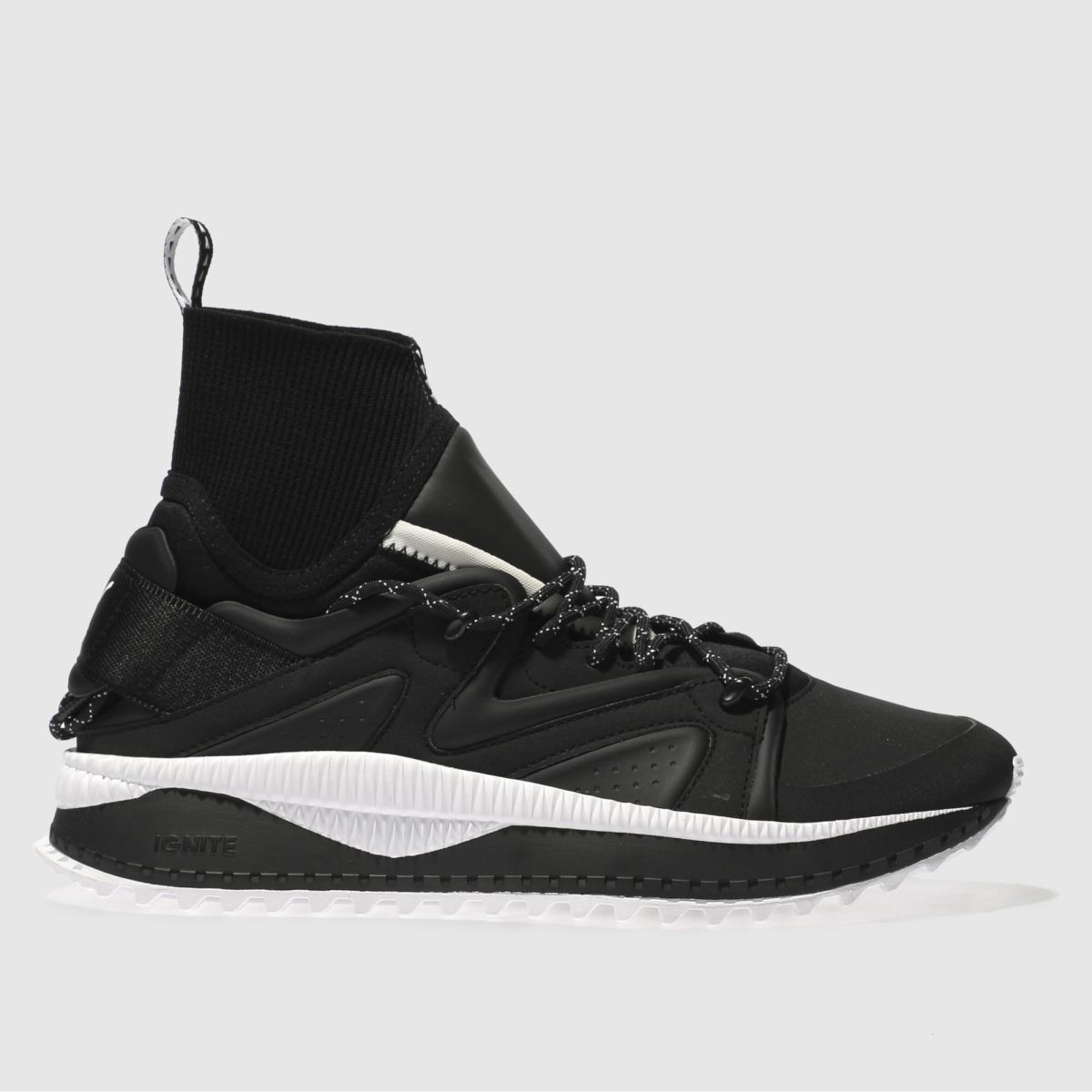 puma black & white tsugi kori trainers