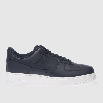 Nike Navy Air Force 1 07 Mens Trainers