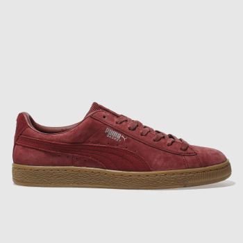 Puma Burgundy Basket Classic Wp Mens Trainers