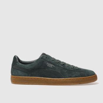 Puma Green Basket Classic Wp Mens Trainers