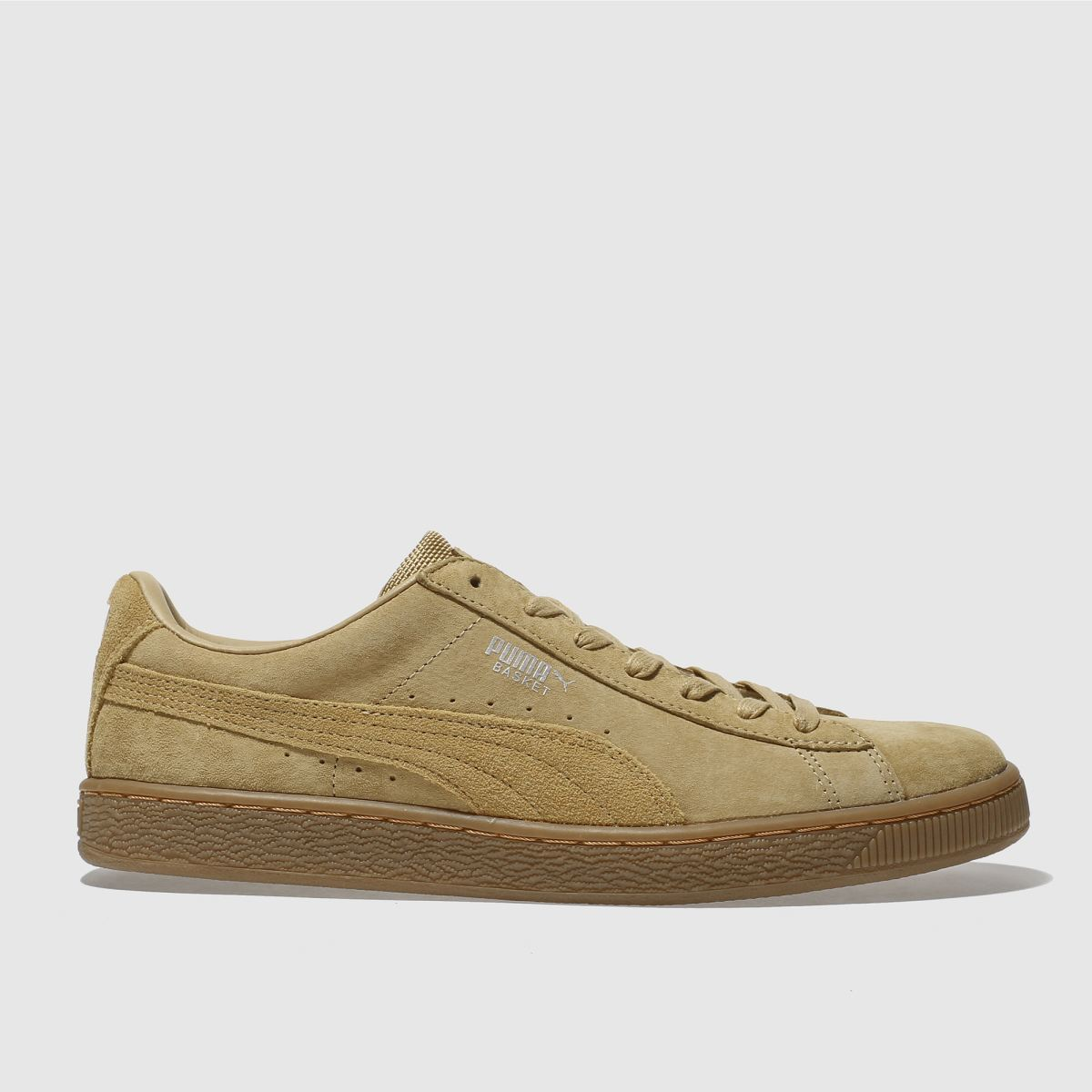 puma tan basket classic trainers
