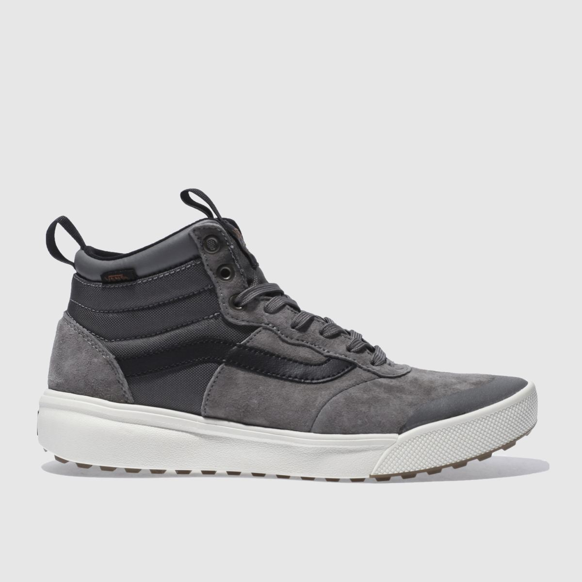 vans grey ultrarange hi trainers