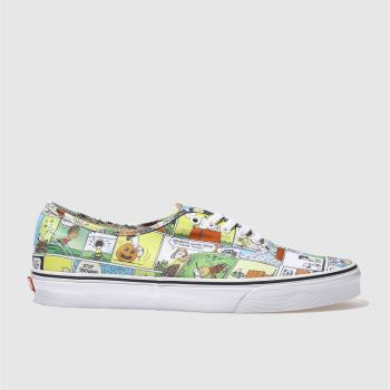 Vans White & Yellow AUTHENTIC PEANUTS COMIC Trainers