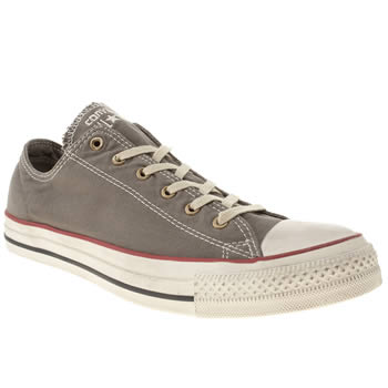 mens converse dark grey all star well worn ox trainers