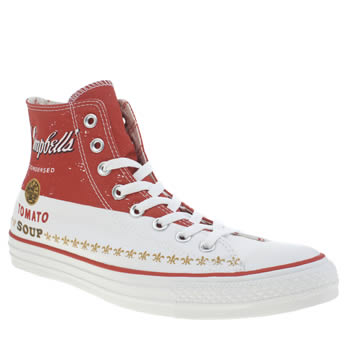 Converse White & Red Chuck Taylor All Star Warhol Trainers