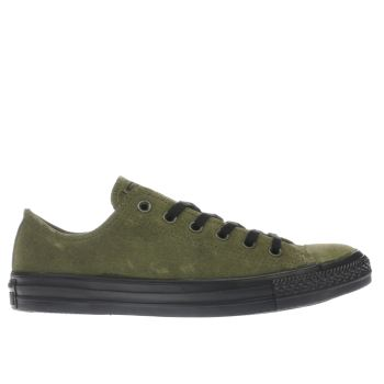 Converse Khaki All Star Lo Suede Mens Trainers