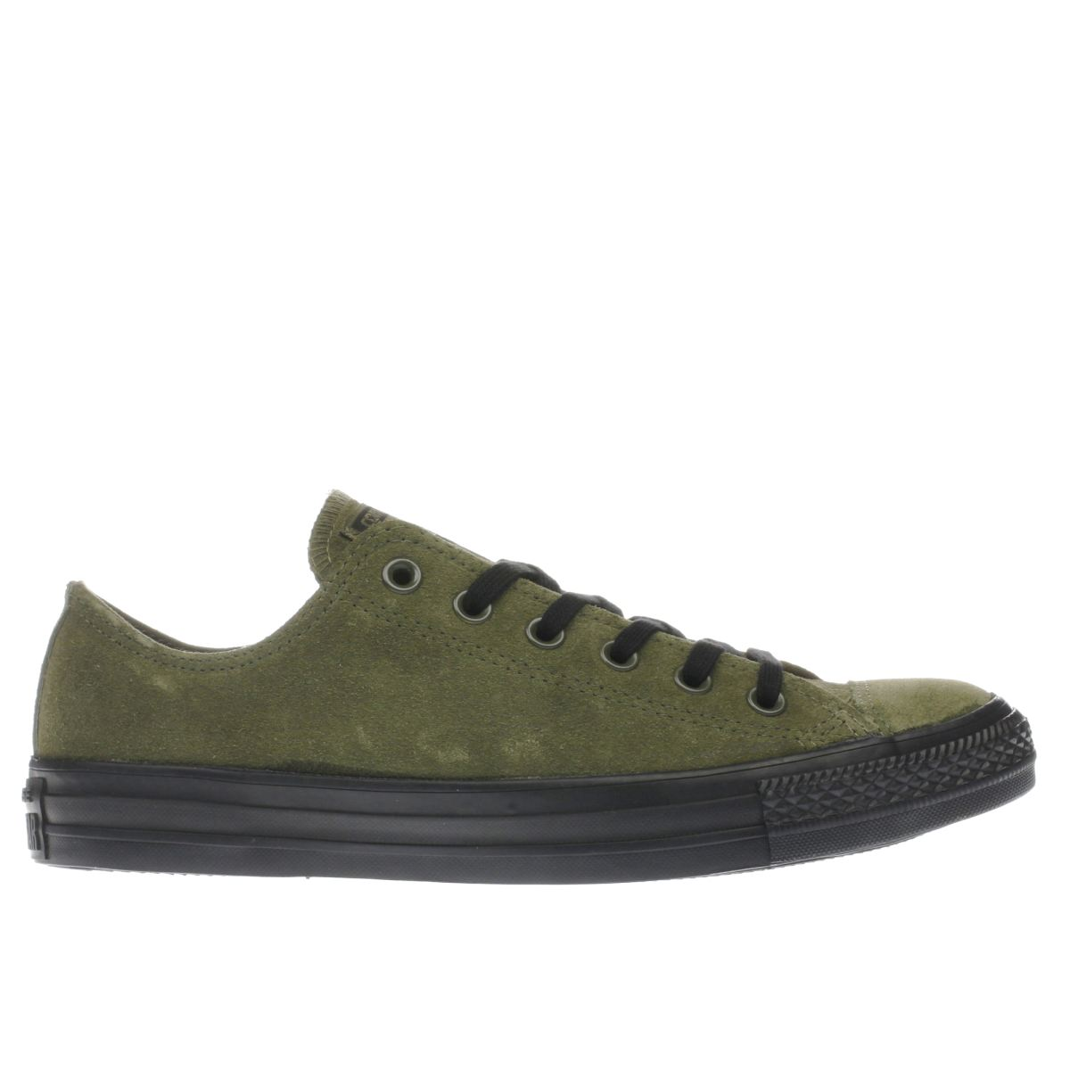 converse khaki all star lo suede trainers