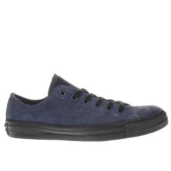 Converse Navy All Star Lo Suede Trainers