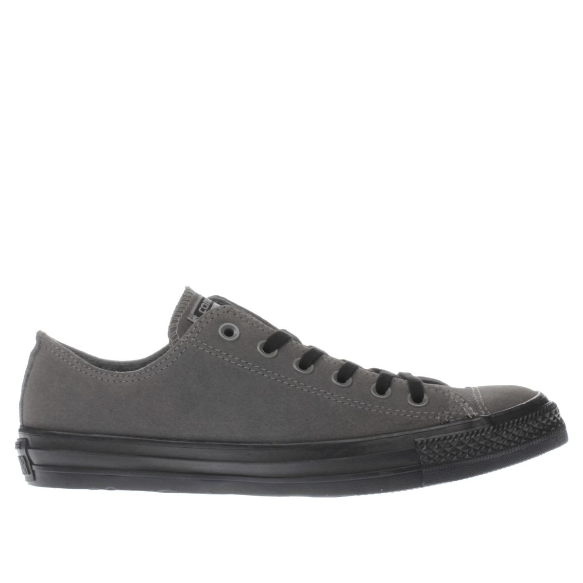converse grey all star lo suede trainers