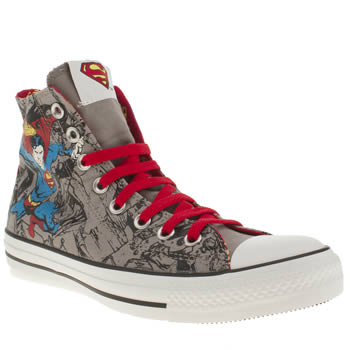 mens converse grey all s print dc comic superman trainers