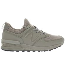 New Balance Khaki Grey 574 Sport Mens Trainers