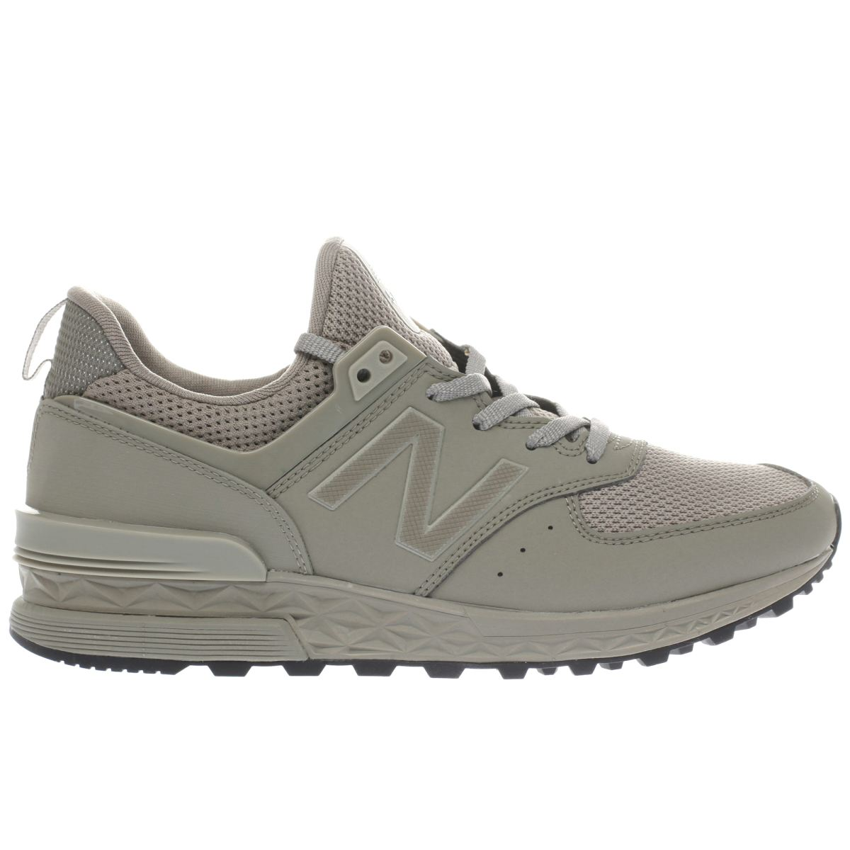new balance khaki grey 574 sport trainers