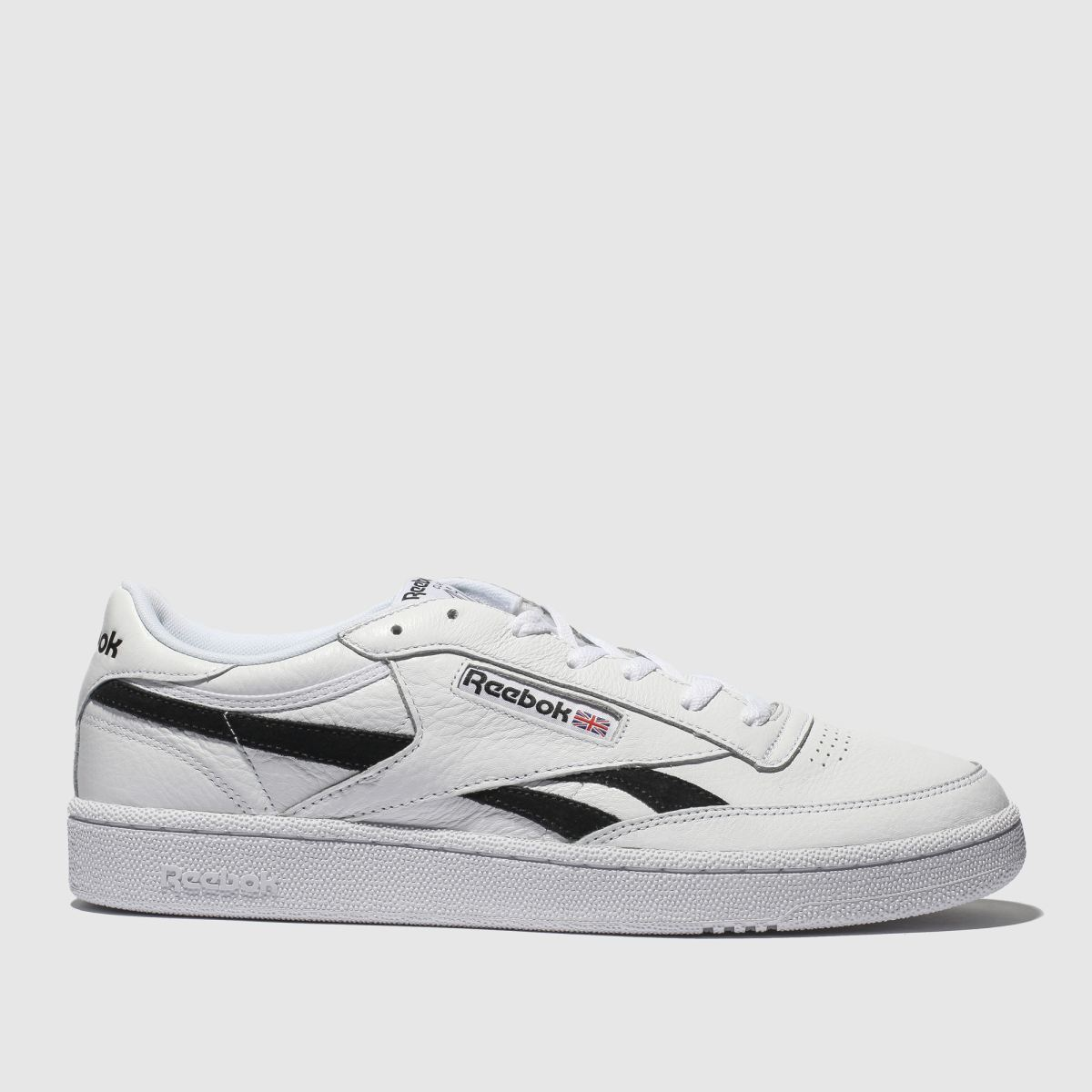 Reebok White & Black Revenge Plus Trainers