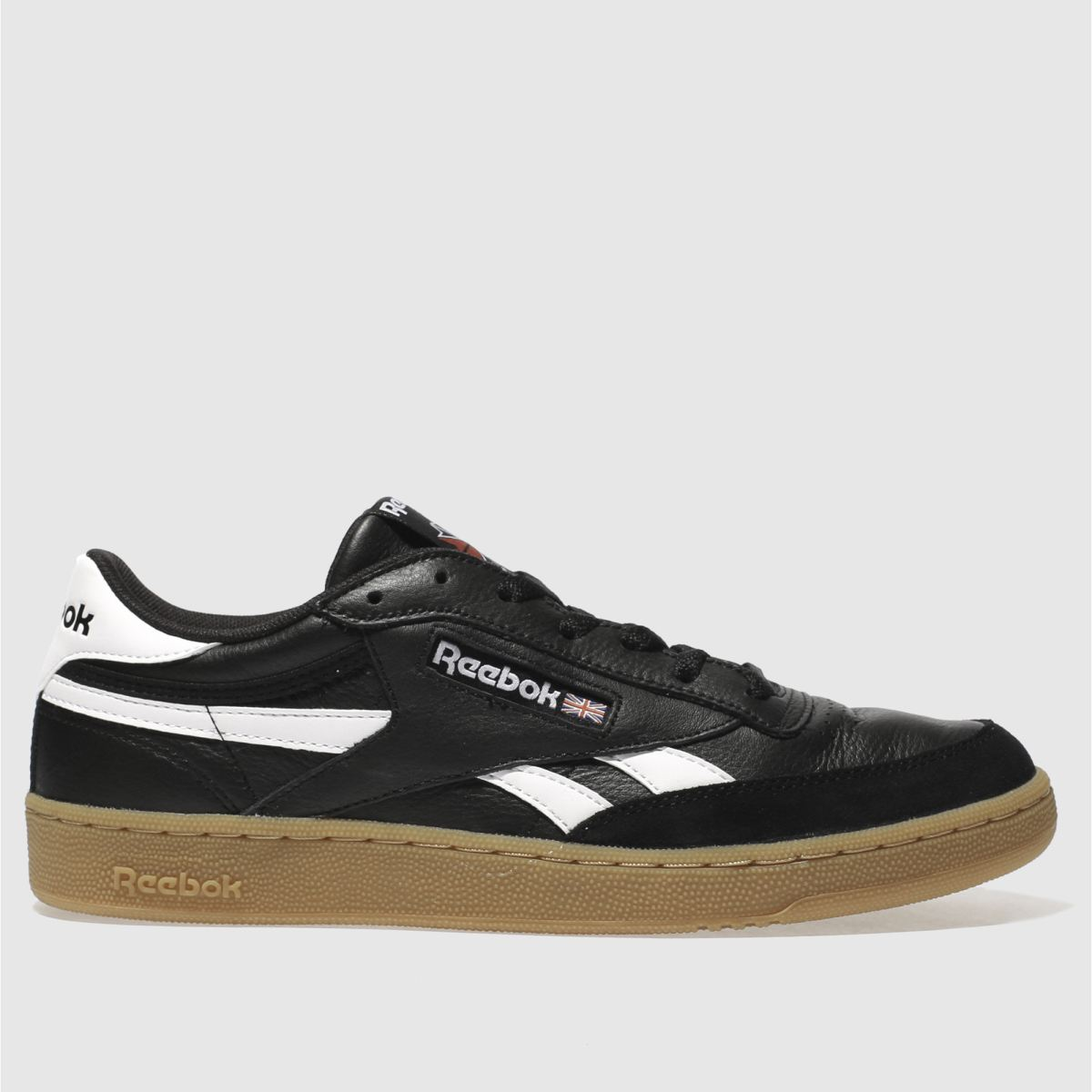 Reebok Black & White Revenge Plus Gum Trainers