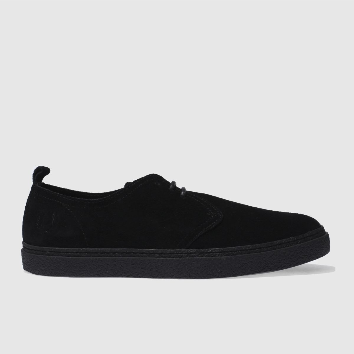 fred perry black linden shoes