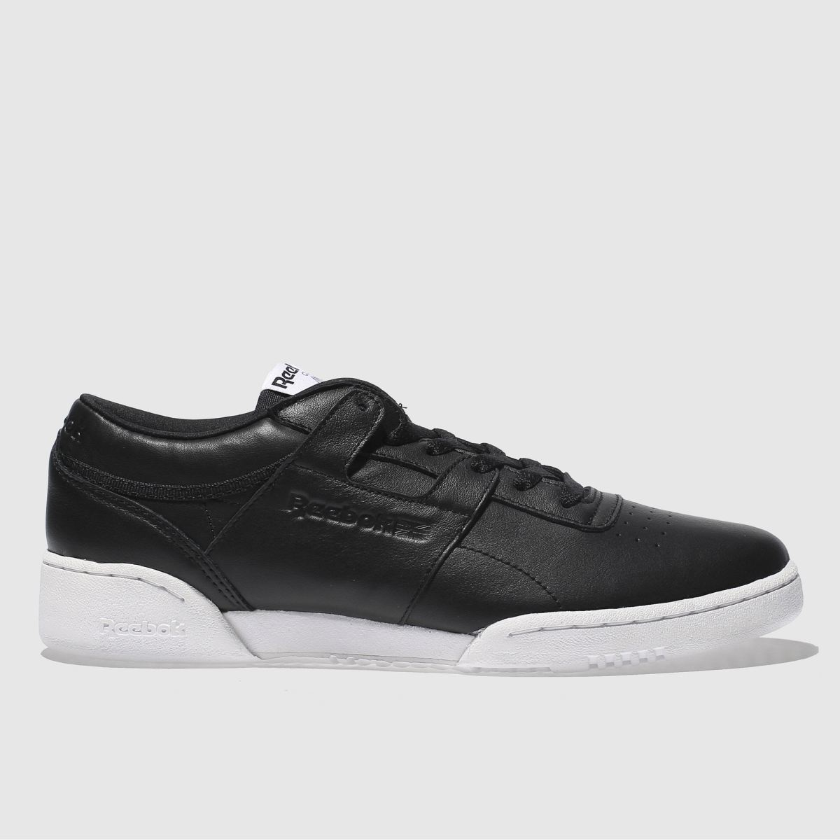 Reebok Black Workout Lo Clean Iconic Detail Trainers