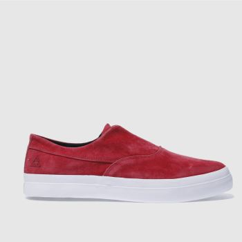 Huf Red Dylan Slip On Mens Trainers