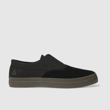 Huf Black Dylan Slip On Mens Trainers