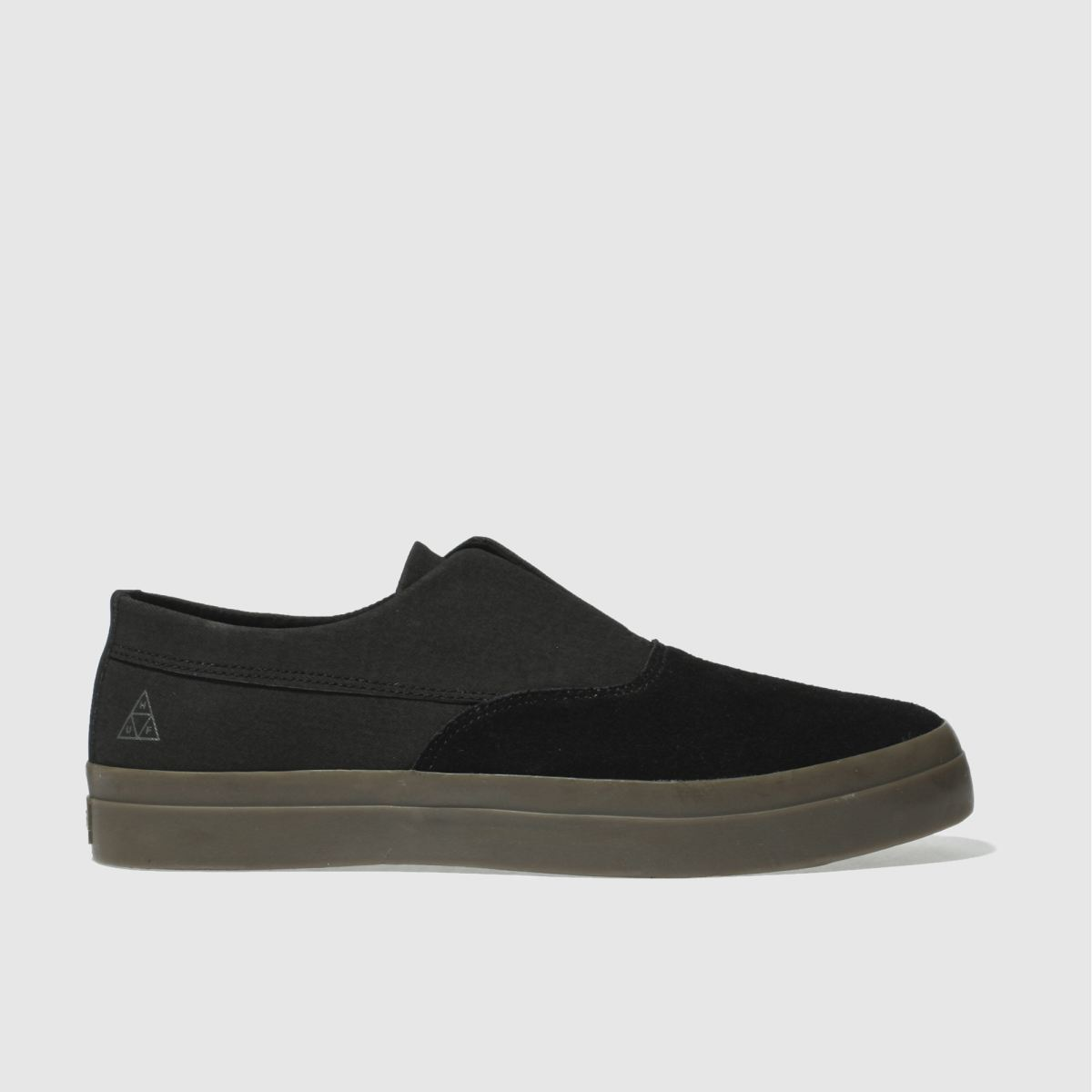 huf black dylan slip on trainers