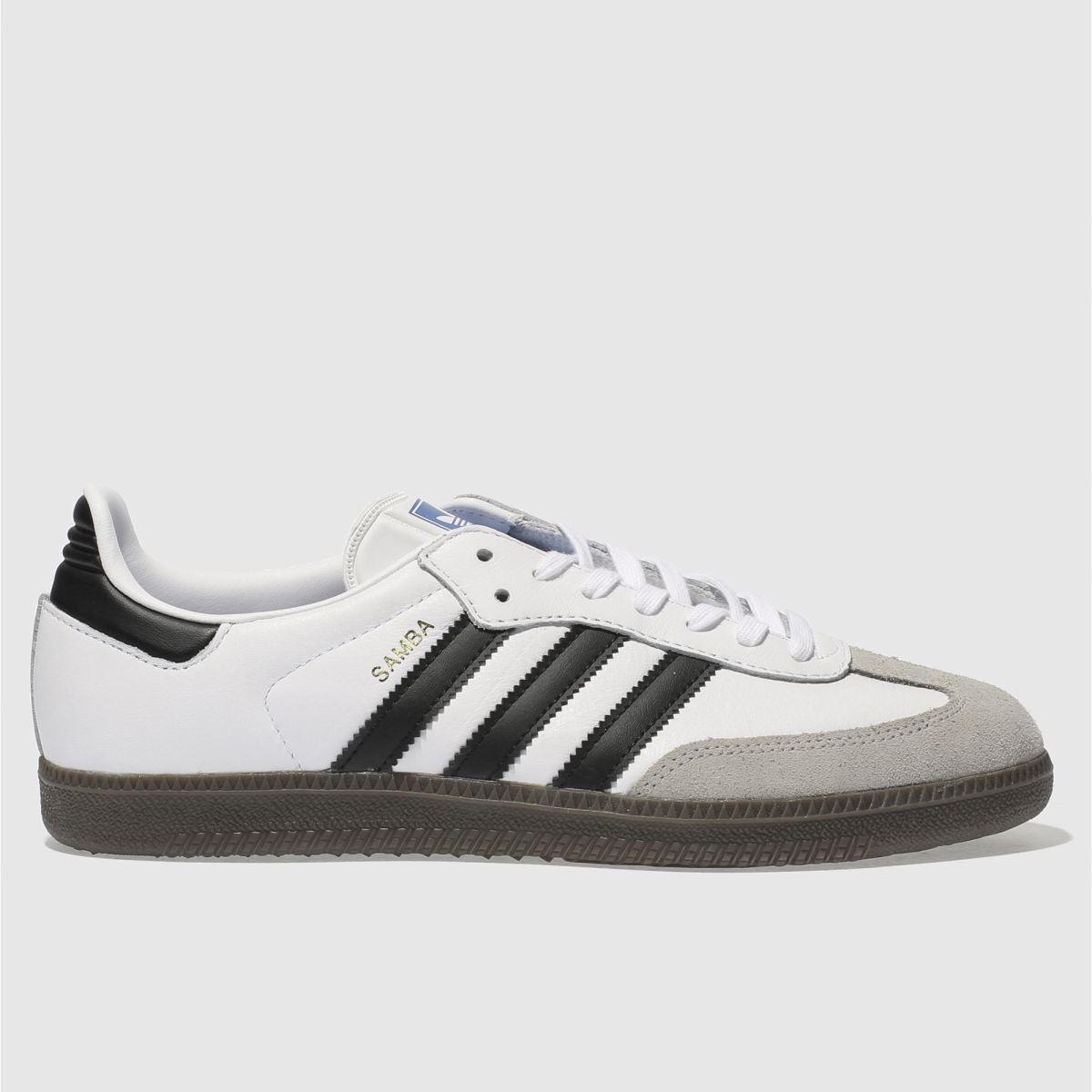 Adidas White & Black Samba Og Trainers