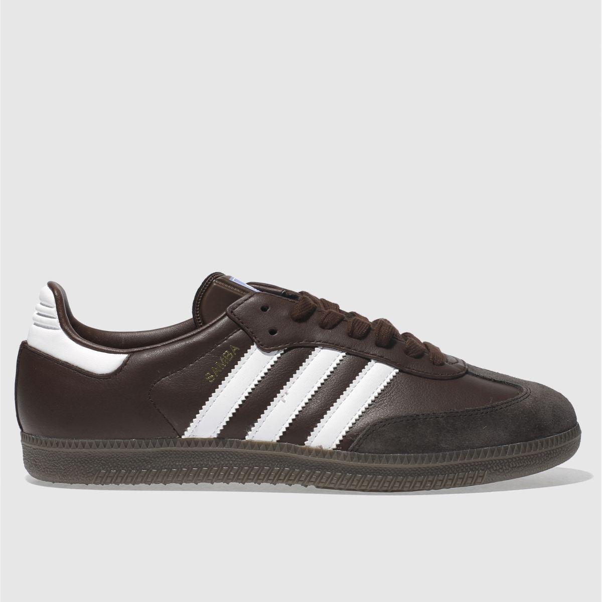 Adidas Dark Brown Samba Og Trainers