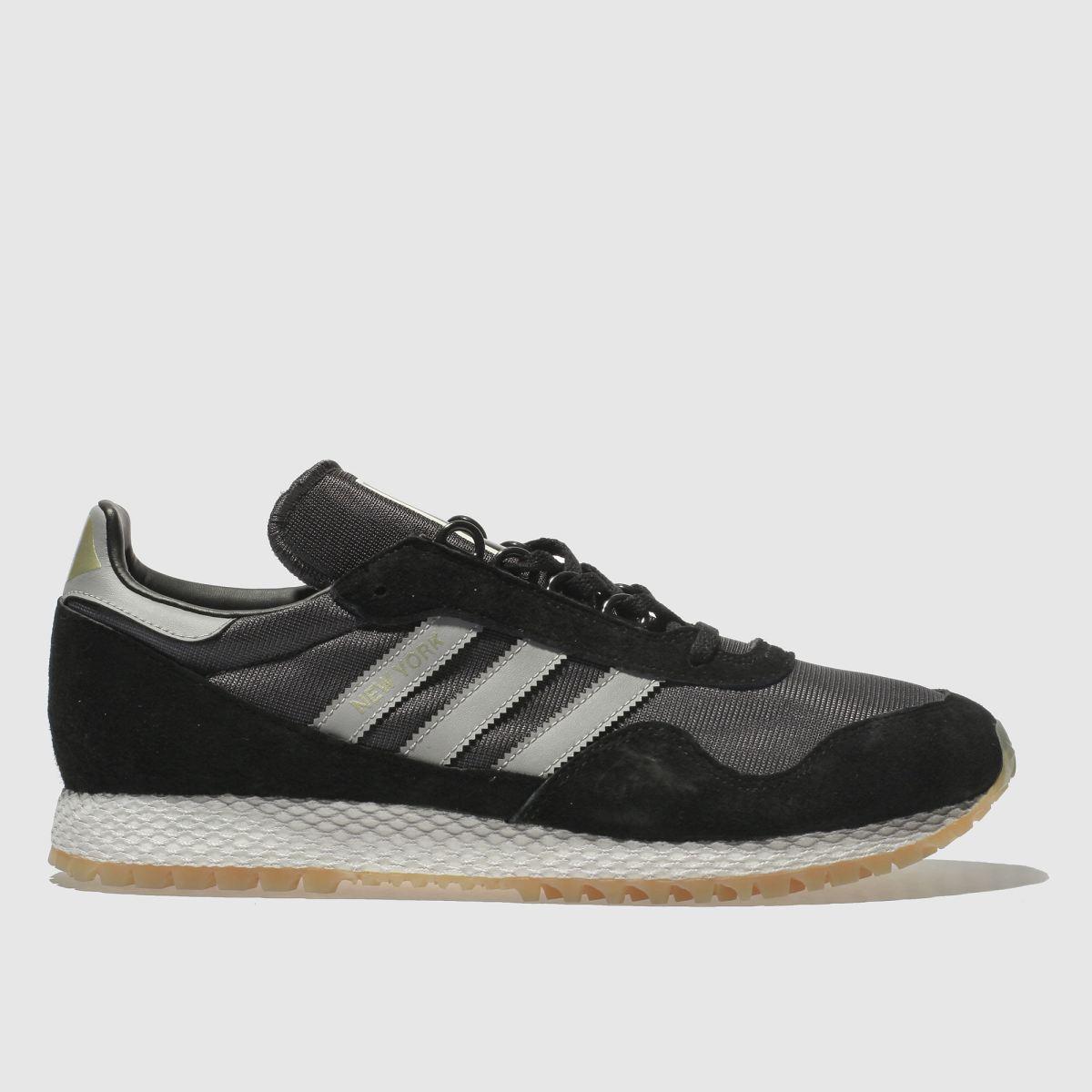 Adidas Black & Grey New York Trainers