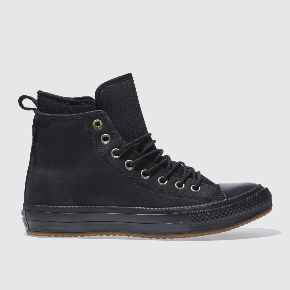 converse black all star wateroroof boot hi trainers
