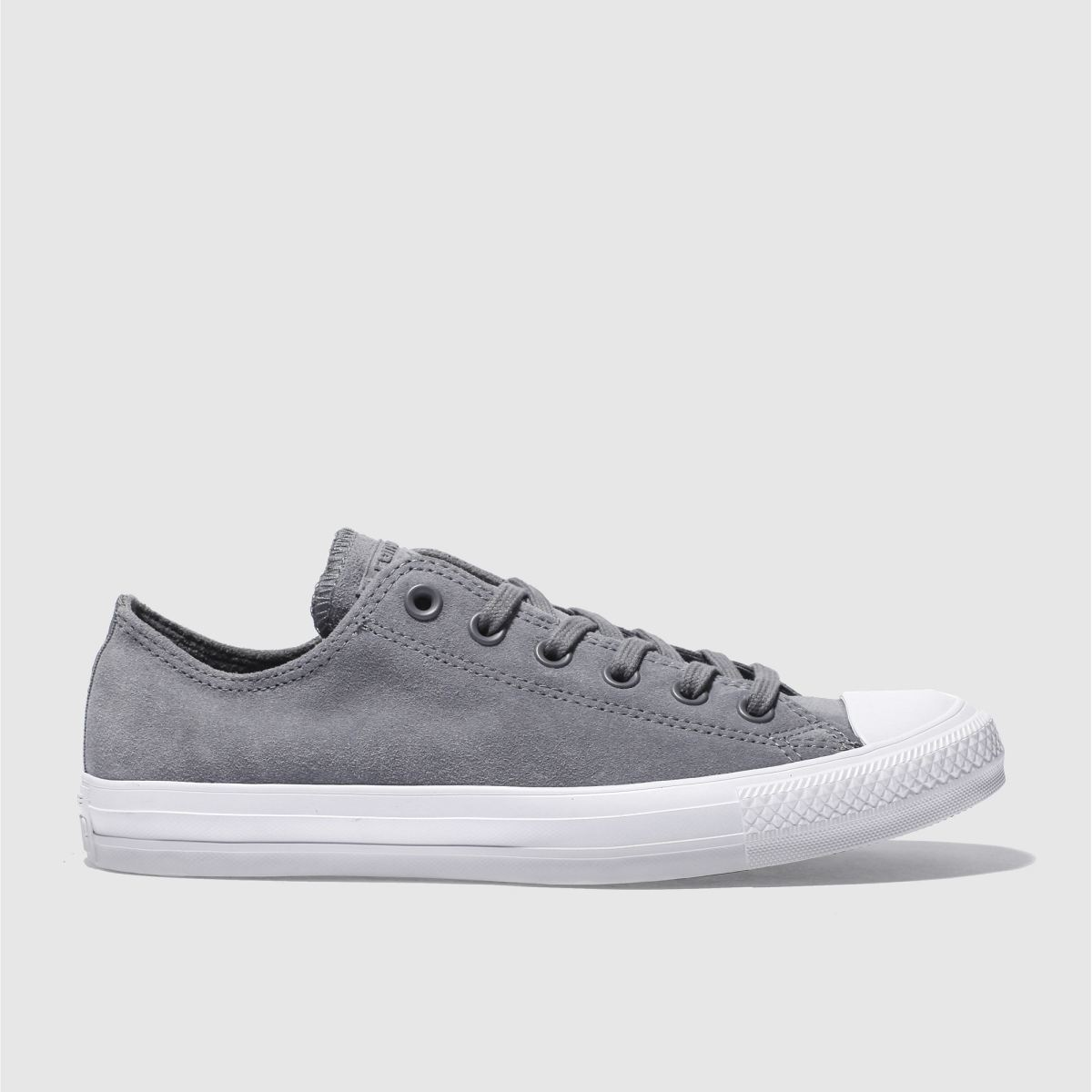 converse grey all star lo trainers