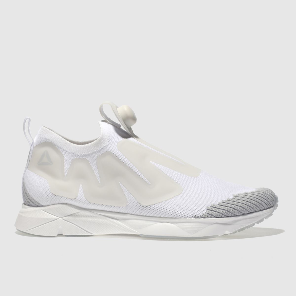 Reebok White & Grey Pump Supreme Trainers