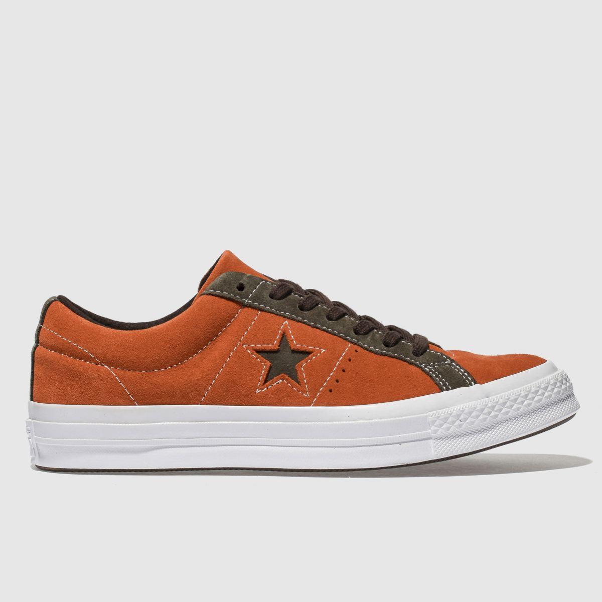 Converse Orange One Star Ox Trainers