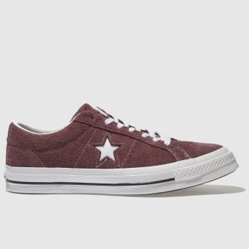 Converse Burgundy One Star Ox Mens Trainers