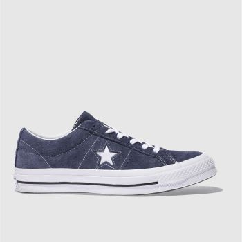 Converse Navy One Star Suede Ox Mens Trainers